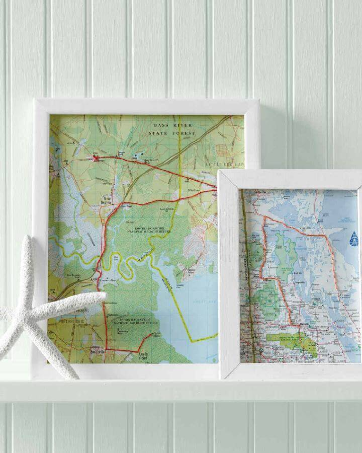 DIY Map Art Work Frames