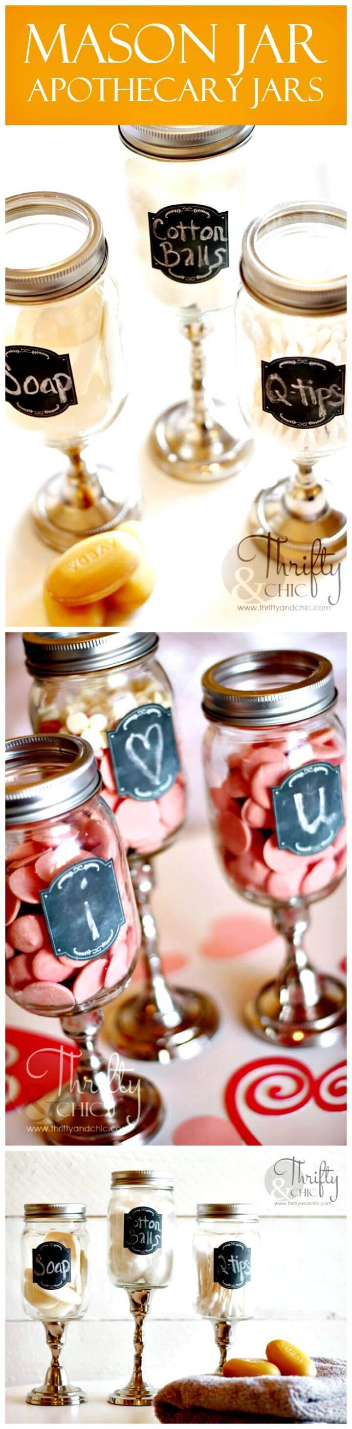 DIY Mason jar Apothecary Jars Mother's Day gift idea