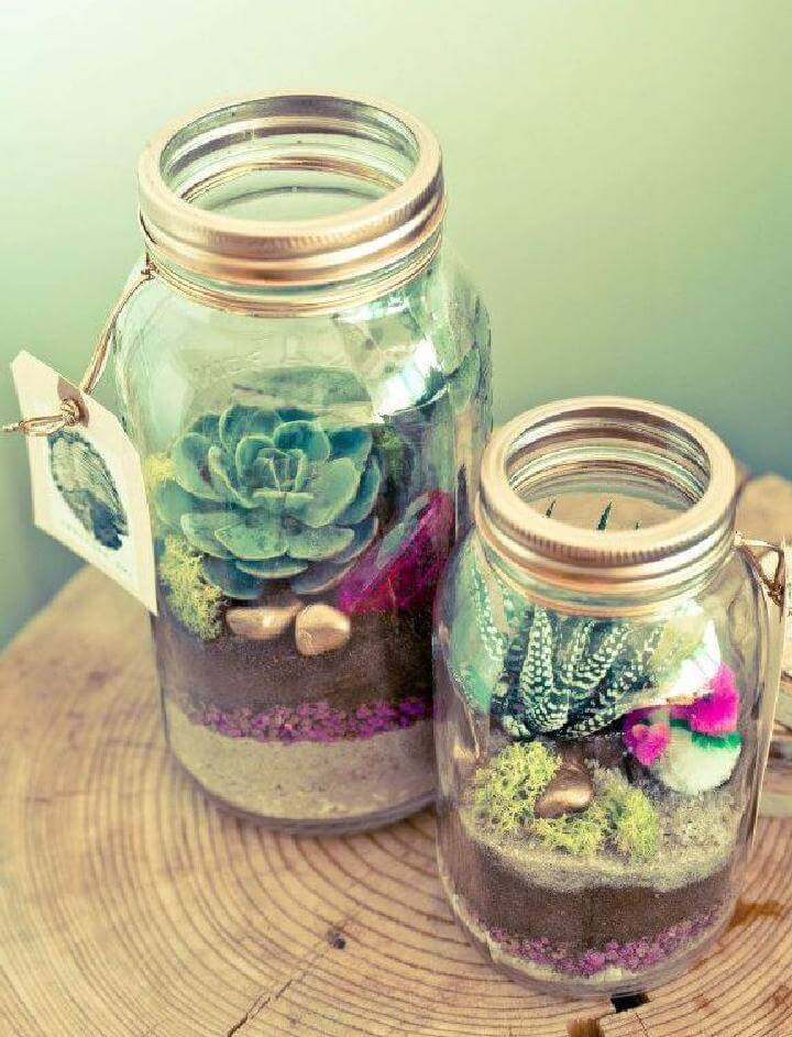 Repurposed Mason Jar Oasis