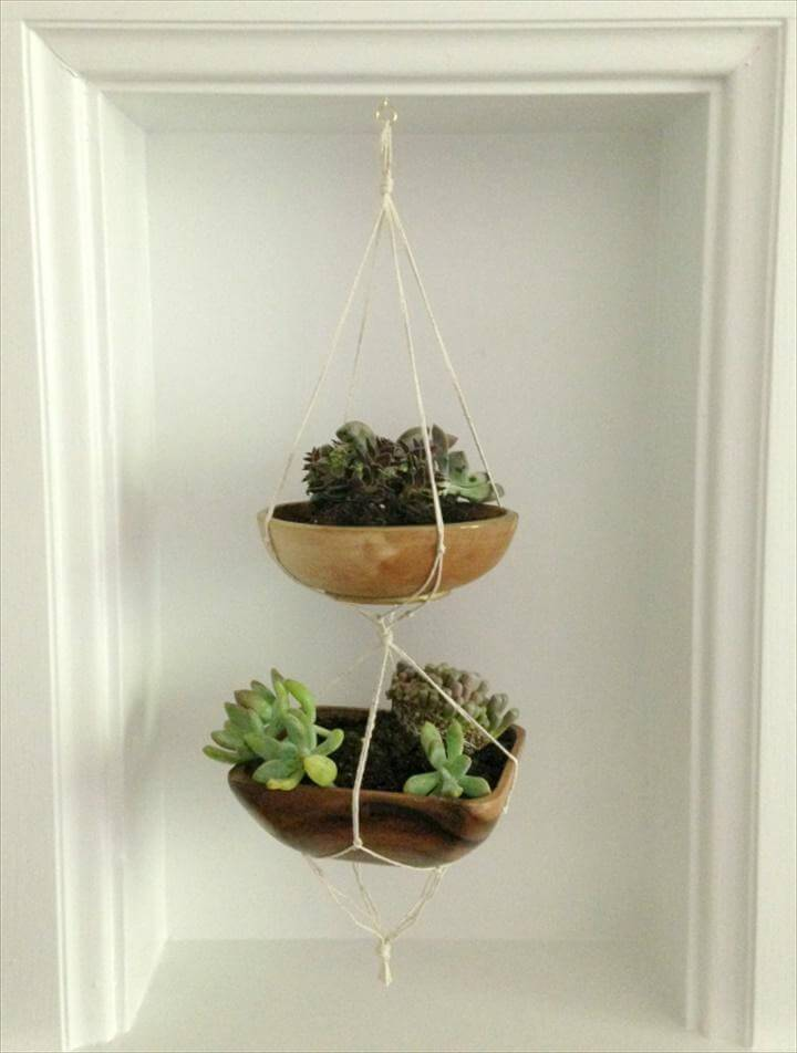 DIY Mini Hanging Succulent Planters
