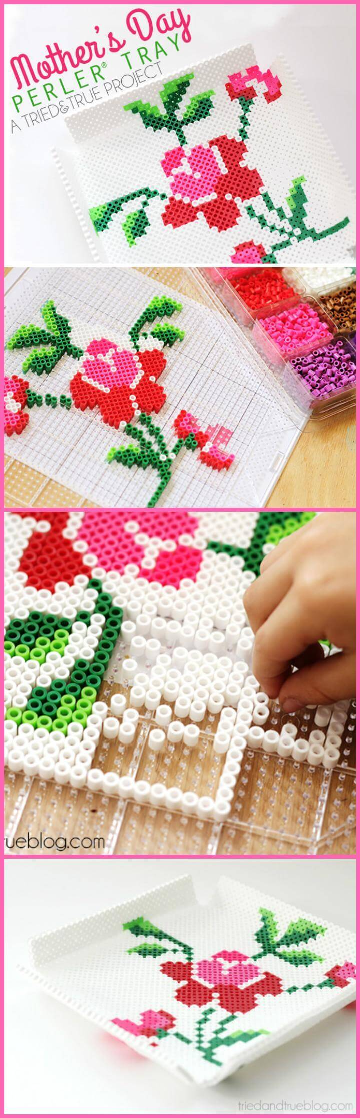 easy Mother's Day perfer bead tray