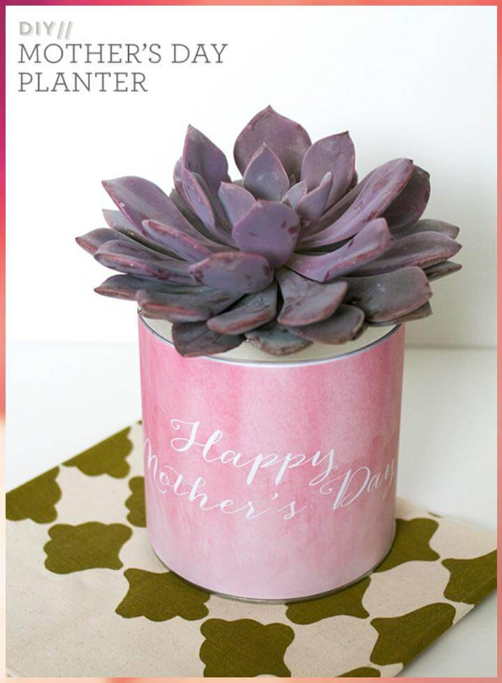 DIY easy Mother's Day planter
