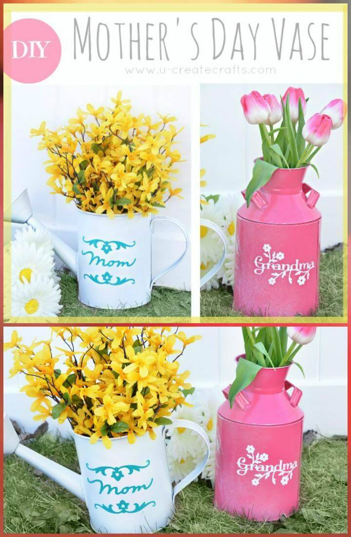 DIY Mother's Day vase gift idea
