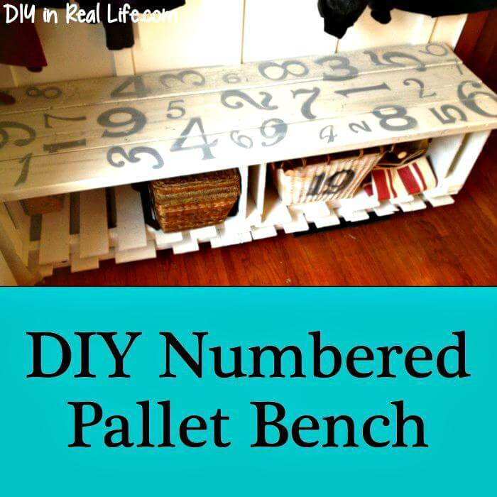 DIY Numbered Pallet Bench
