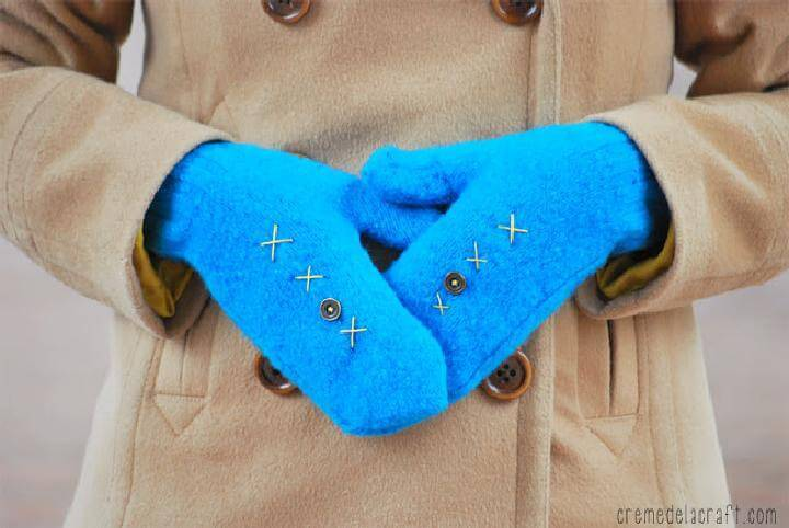 DIY Old Sweater Mittens