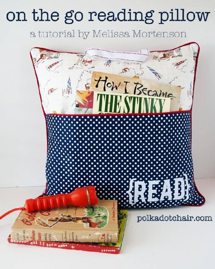 DIY On the Go Reading Pillow
