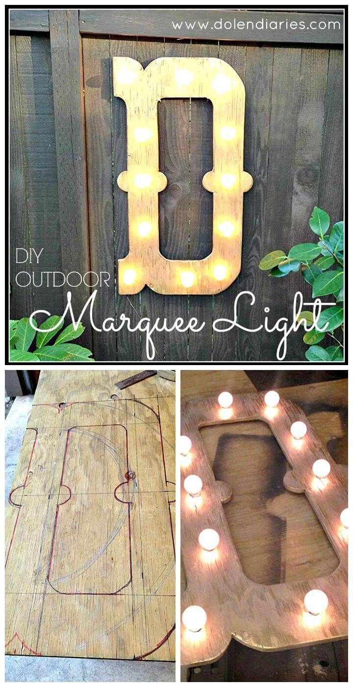 DIY outdoor marquee letter Mother's Day gift