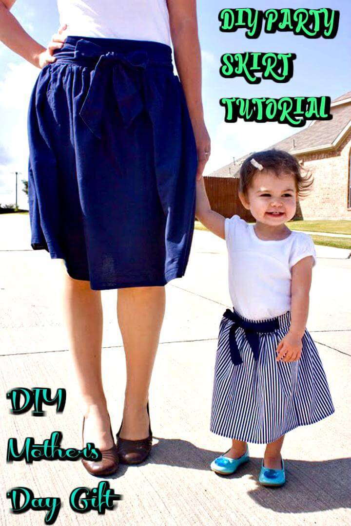 DIY party skirt tutorial