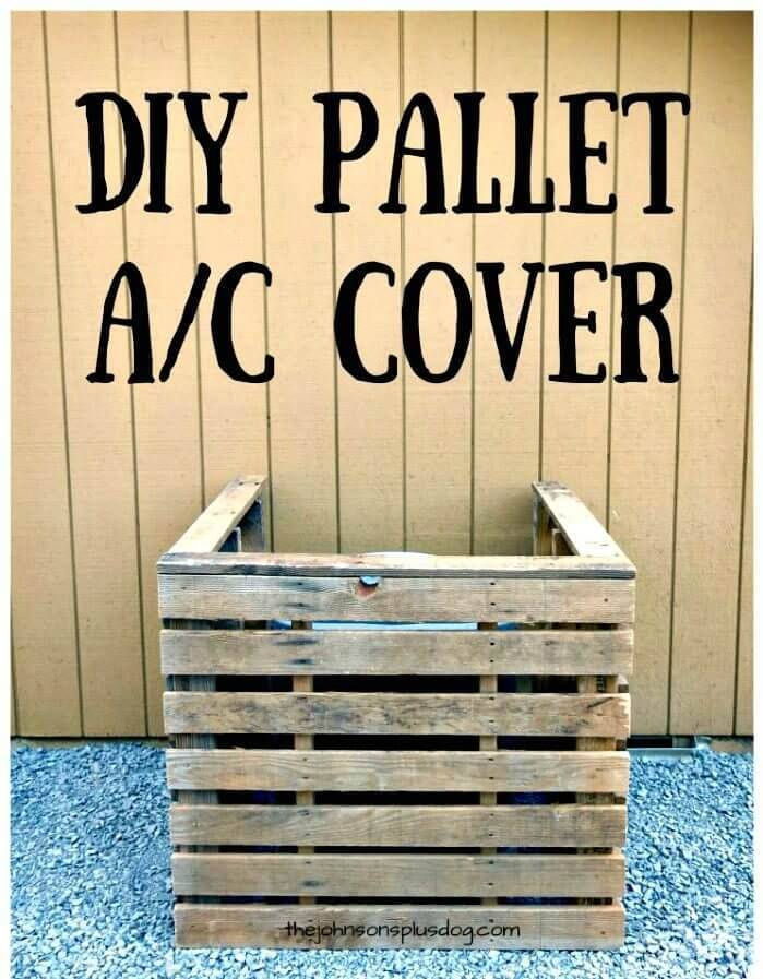 DIY Pallet AC Cover You Can Make In Just 45 Minutes