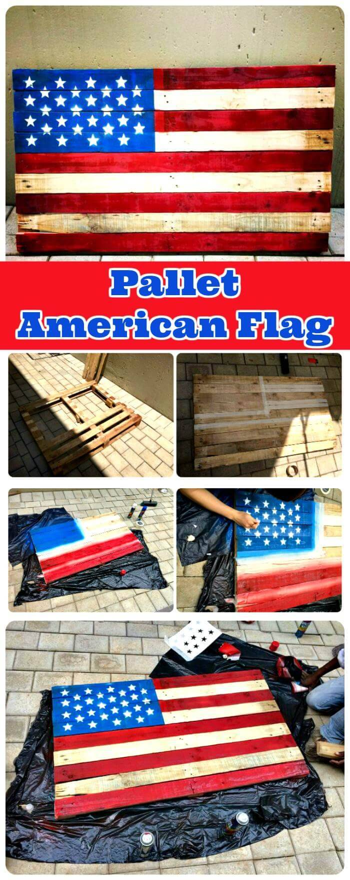 DIY Pallet American Flag
