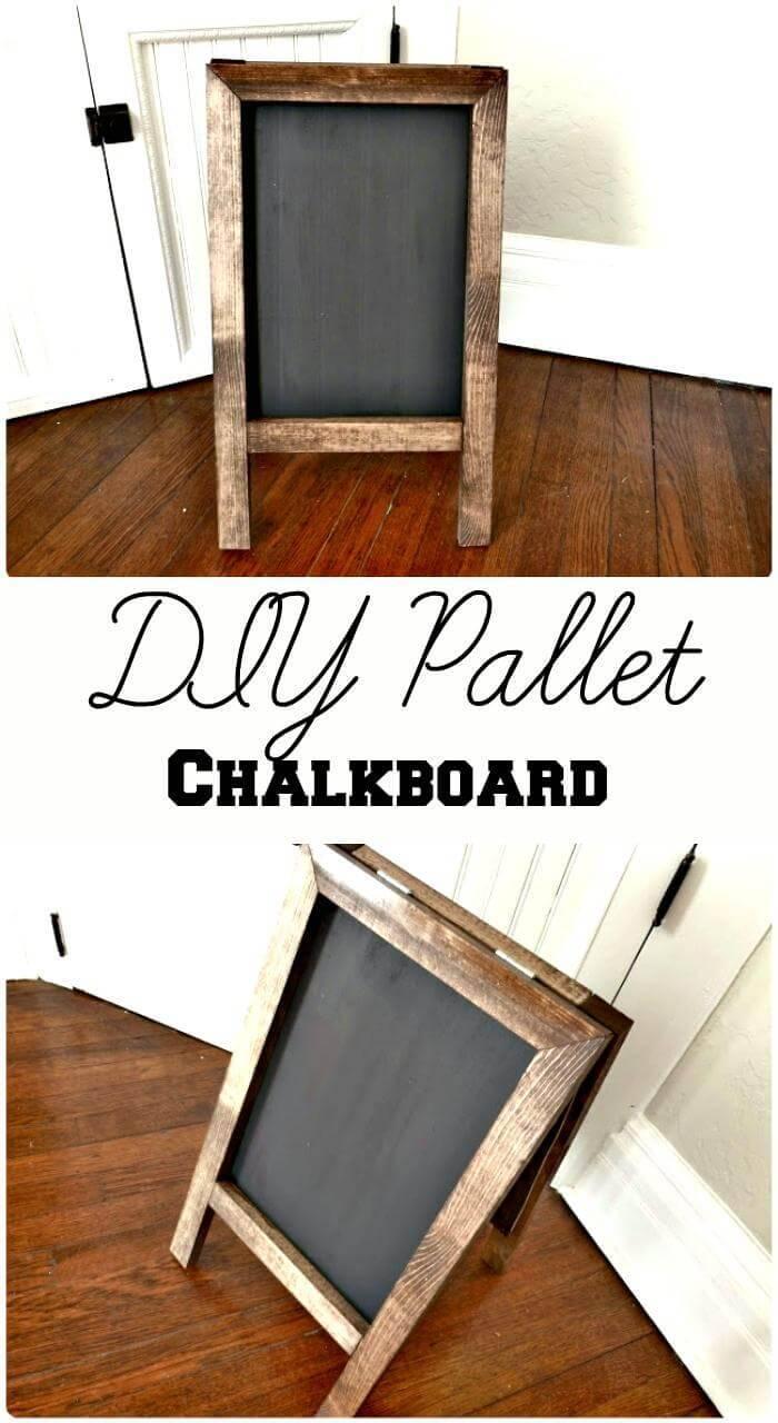 DIY Pallet Chalkboard