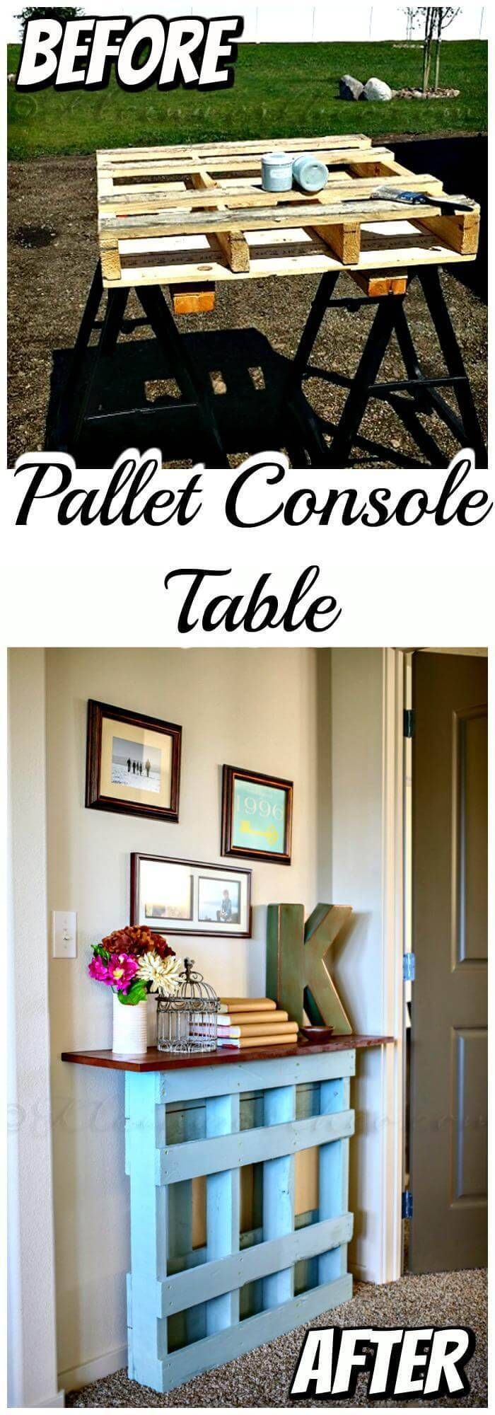 DIY Pallet Console Table Project