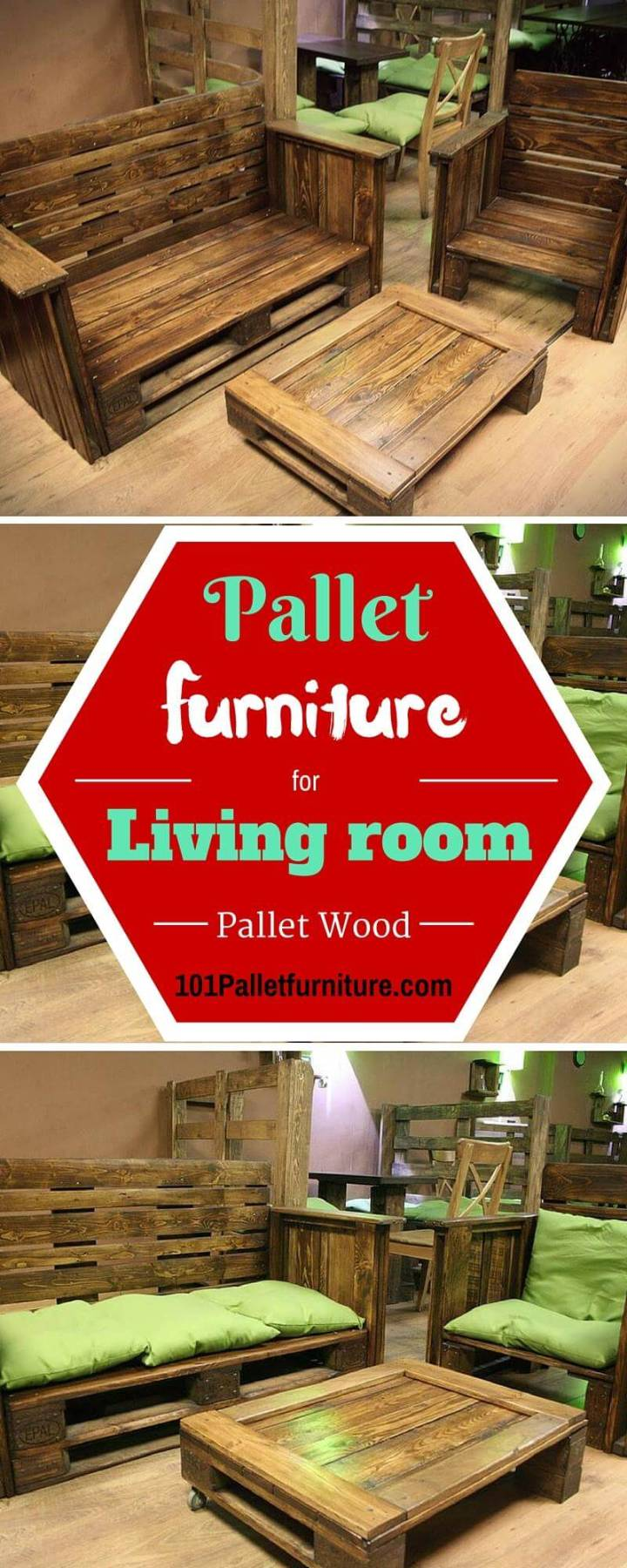 DIY Pallet Furniture for Living Room