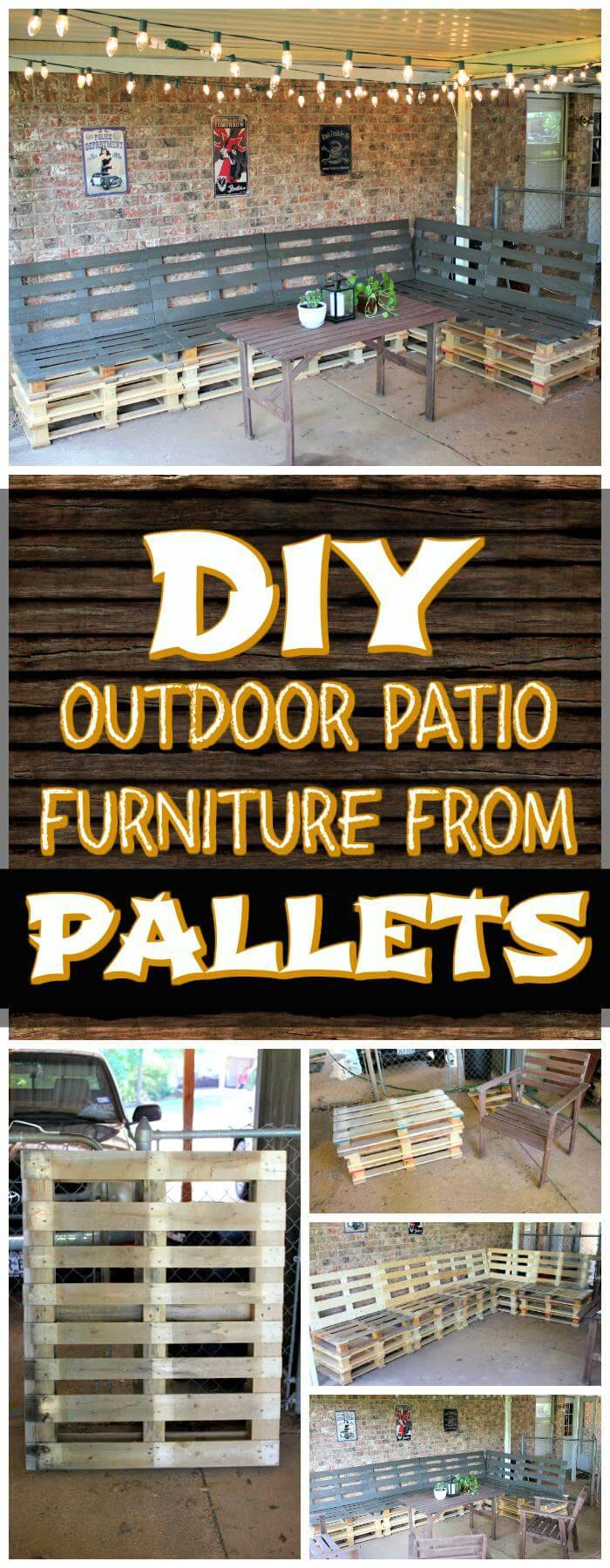 DIY Pallet Patio Furniture for Outdoor