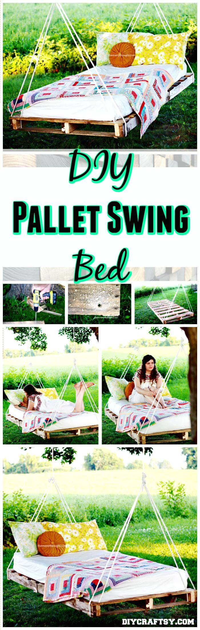 DIY Pallet Swing Bed Tutorial