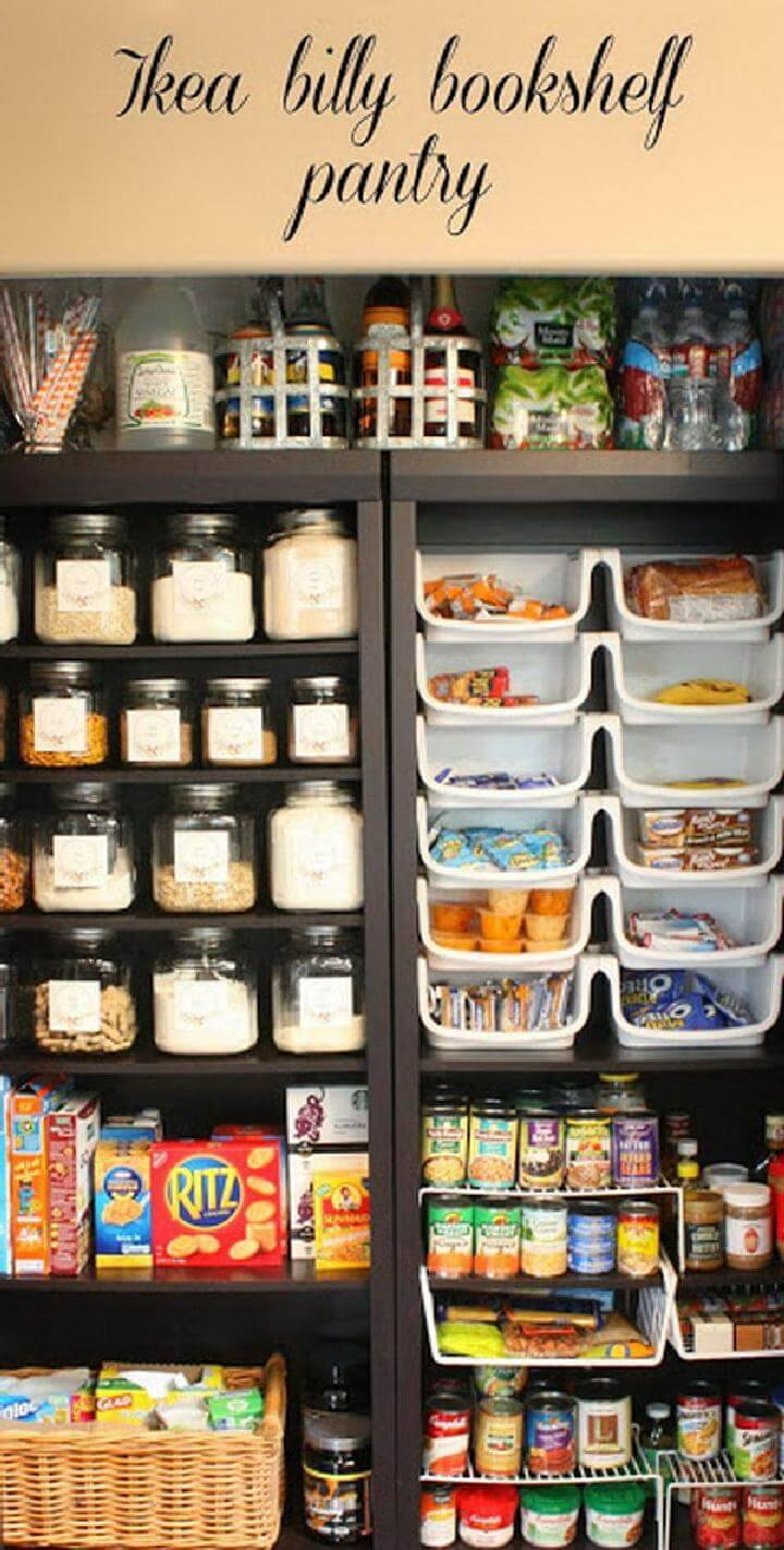 DIY Pantry Made of 2 IKEA BILLY Bookcases