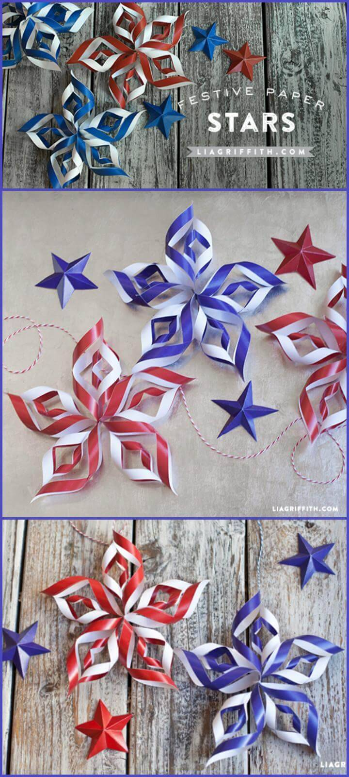 DIY Paper Stars for 4th July