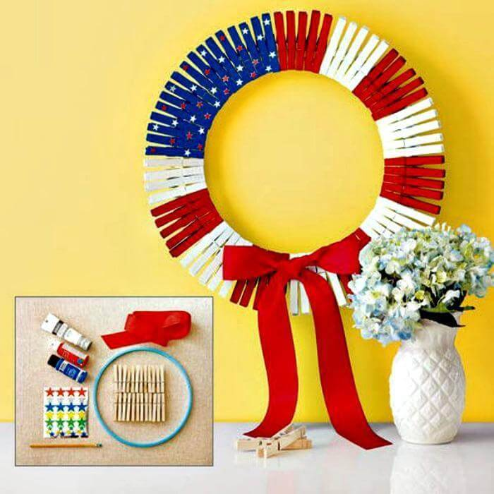 DIY Patriotic Flag Wreath
