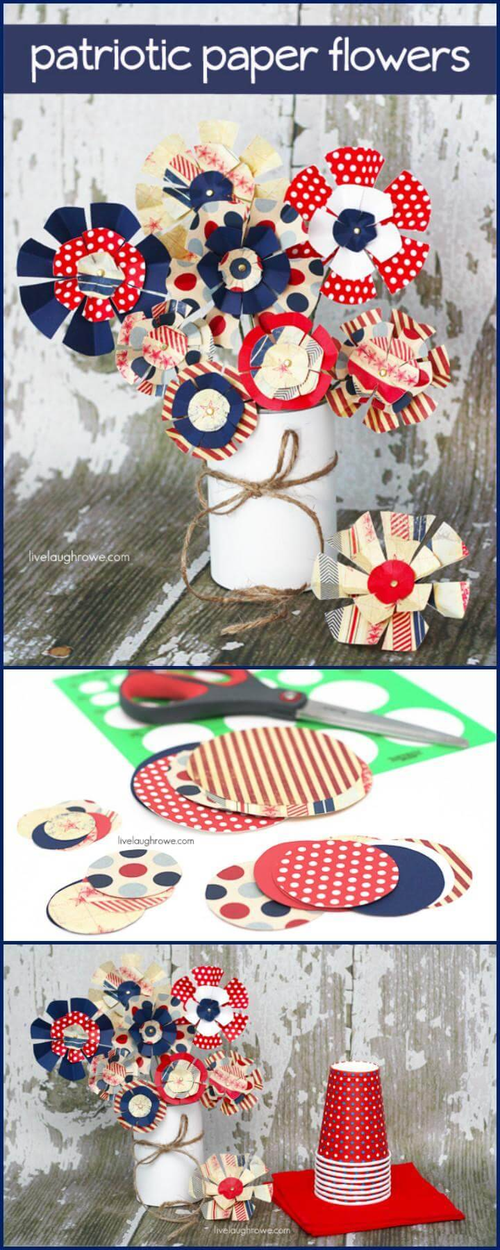 DIY Patriotic Paper Flowers