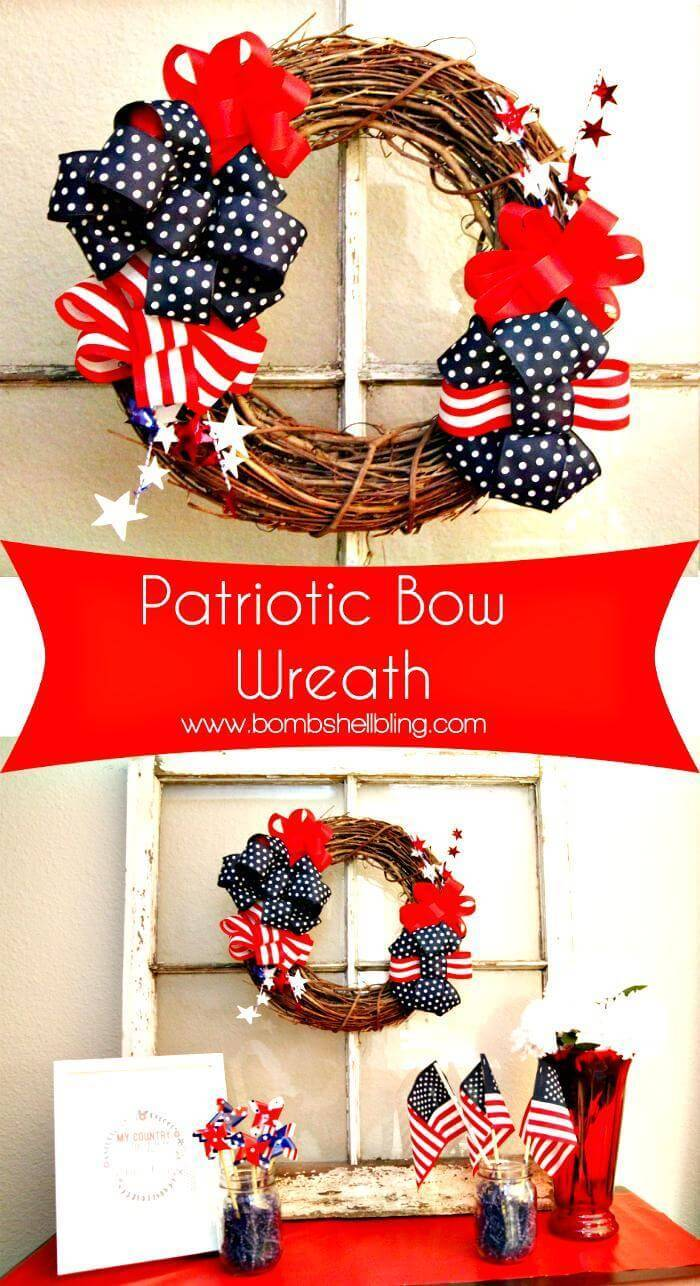 DIY Patriotic Wreath Tutorial - 4TH of July Wreath