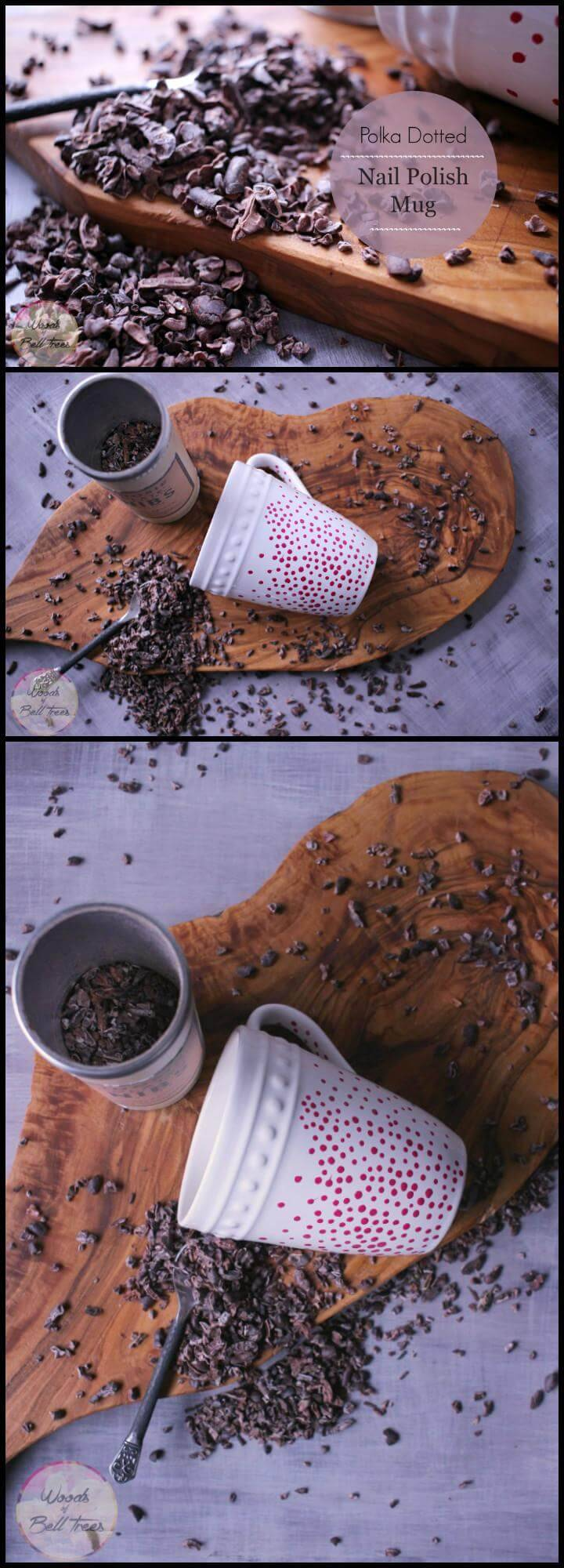 DIY polka dot nail polish mug