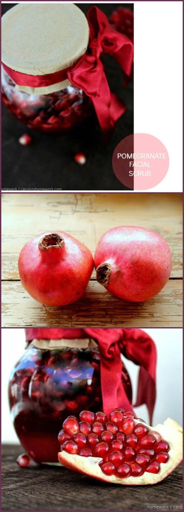 diy pomegranate facial scrub