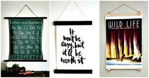 35 Best DIY Poster Hangers / Poster Boards or DIY Picture Frames