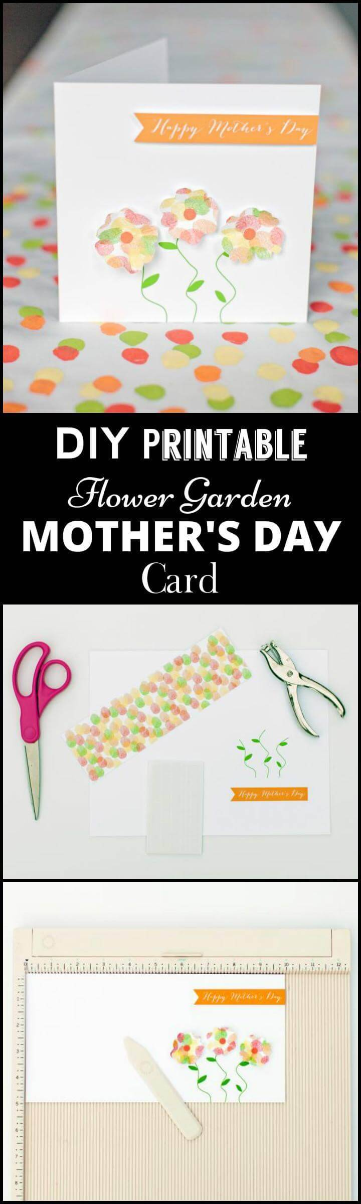 DIY printable flower garden for Mother's Day