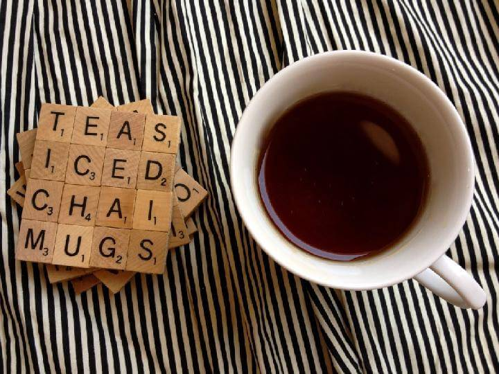 DIY Scrabble Coasters Gift