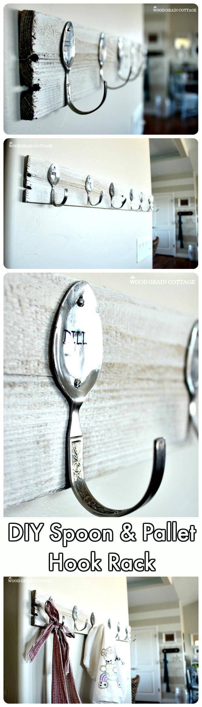 DIY Spoon Pallet Hook Rack