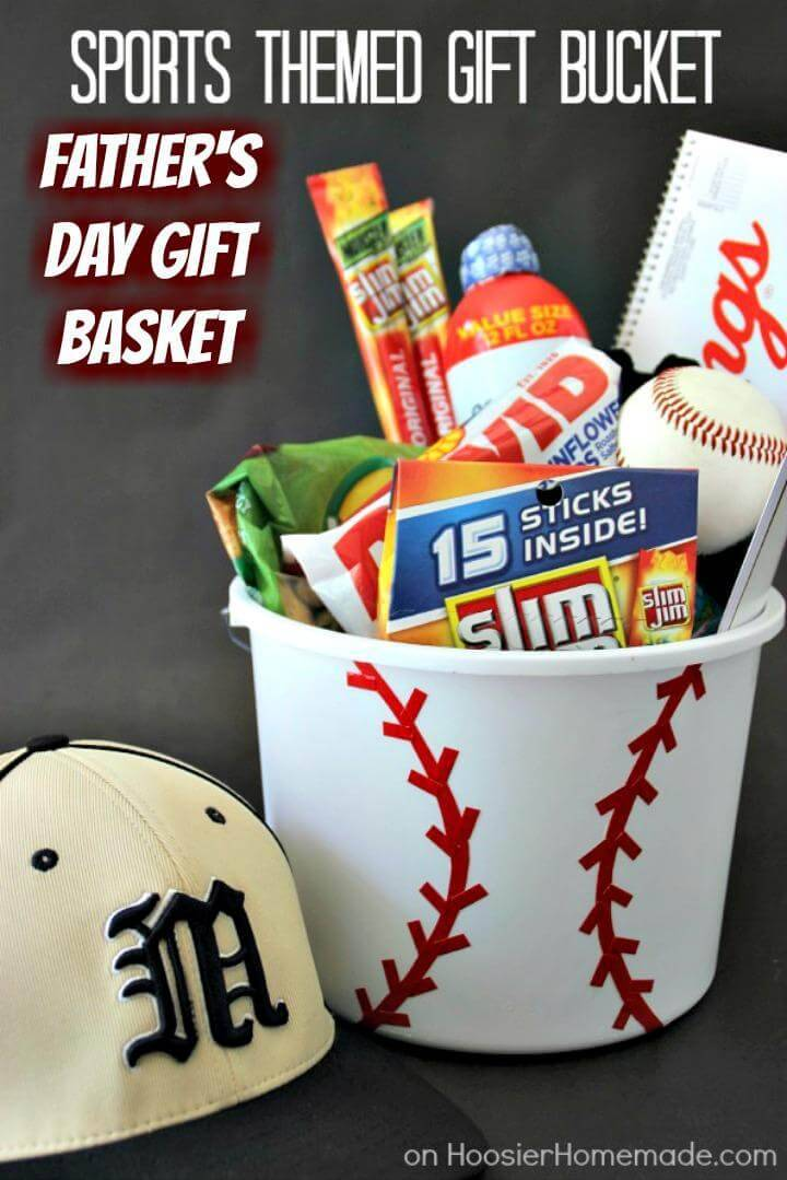 DIY Sports Themed Father's Day Gift Basket