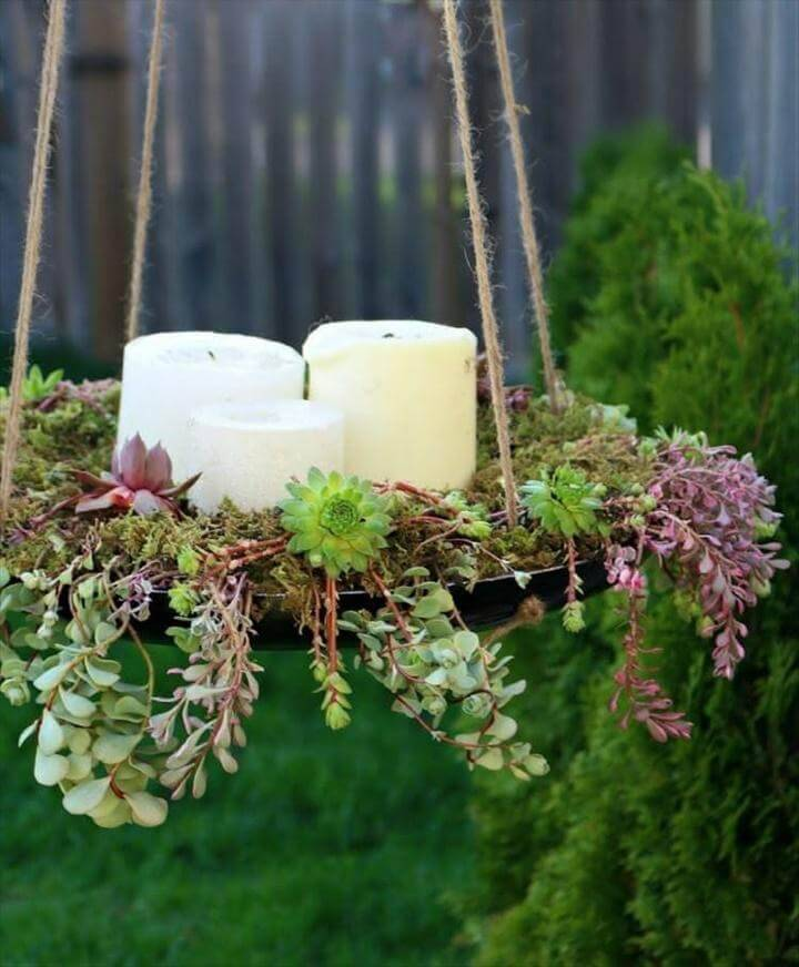 DIY Succulent Hanging Pot