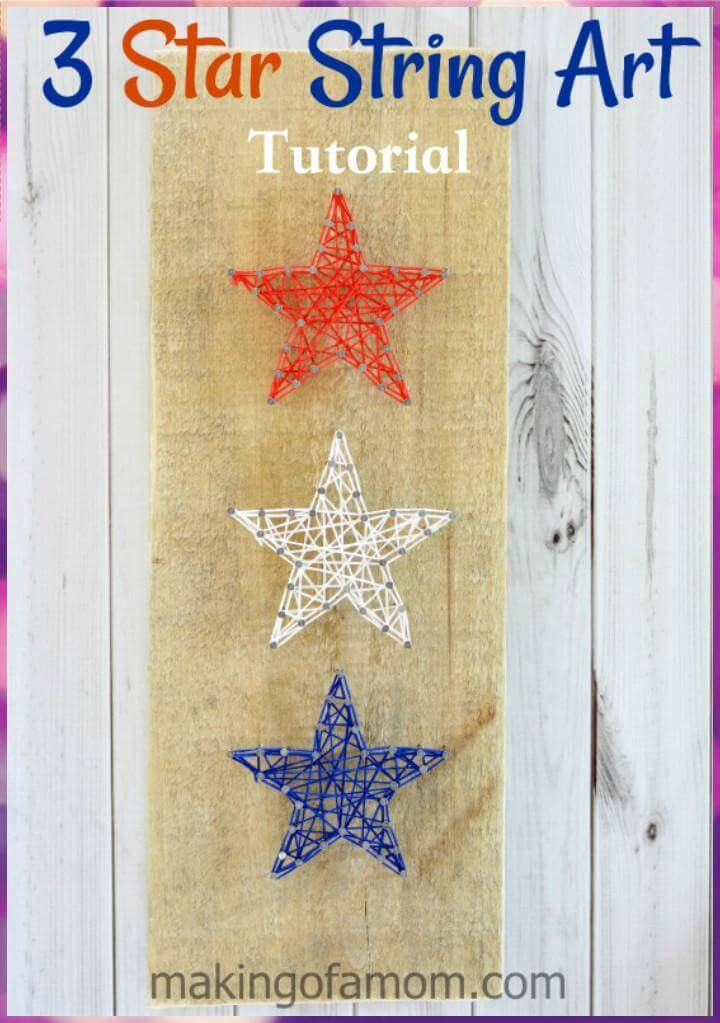 DIY Super Beautiful 3 Star String Art