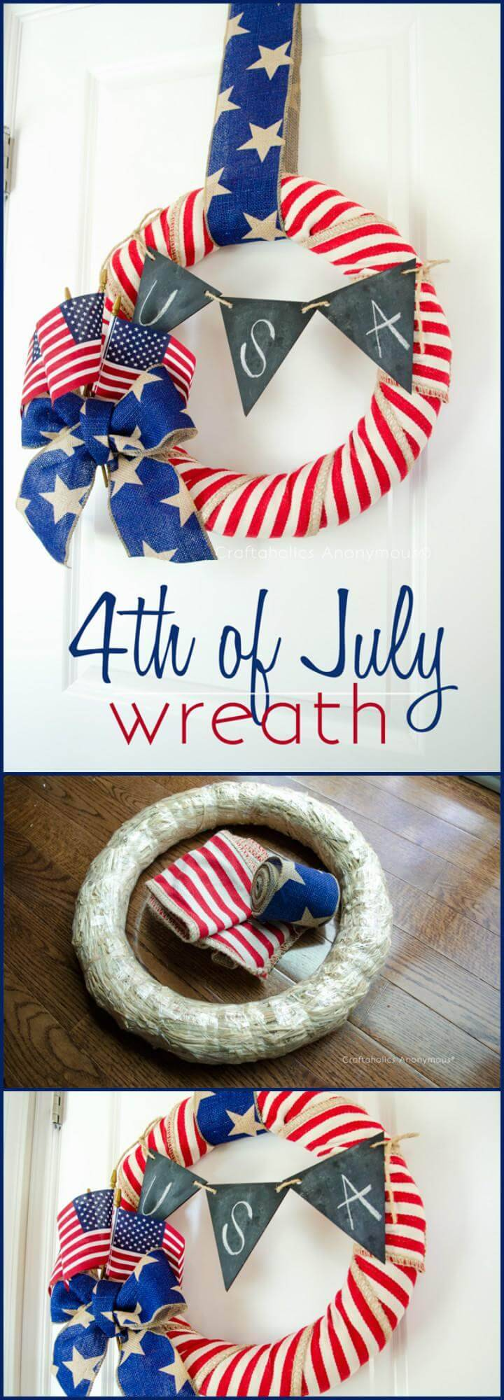 DIY Super Beautiful 4th of July Wreath
