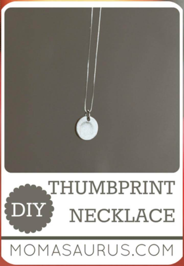 easy thumbprint necklace Mother's Day gift idea