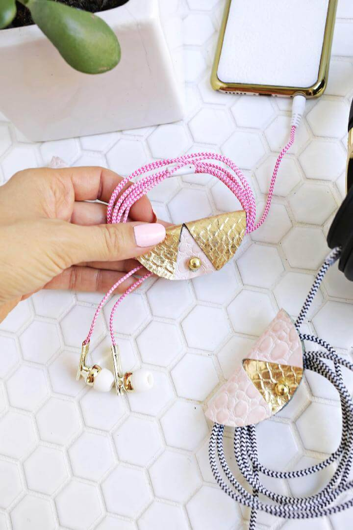 DIY Timeless Leather Cord Keeper