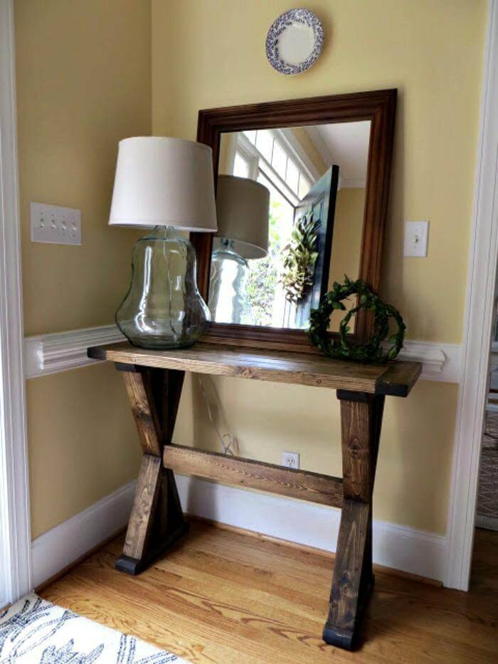 DIY Tutorial for Building an 'X' Entryway Table