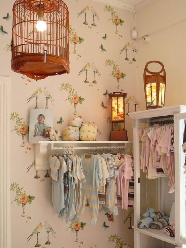DIY Wall Shelves to Organize Baby Clothes