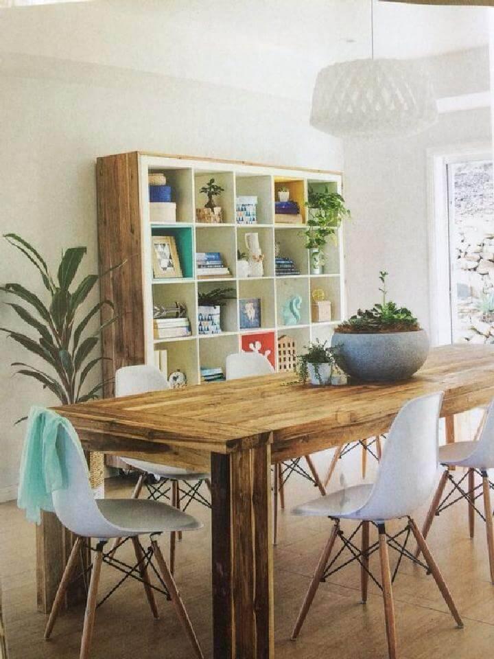 DIY Wooden Frame for Large Kallax Shelving Unit