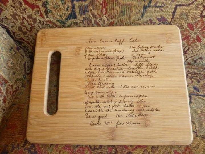 DIY Wooden Overwritten Board Gift