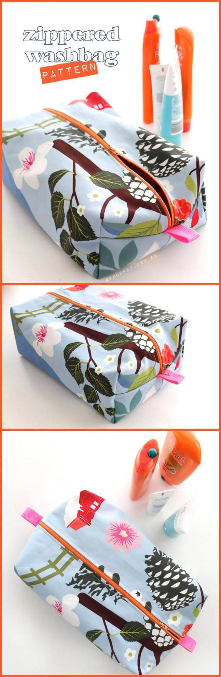 Easy Zippered Washbag Tutorial