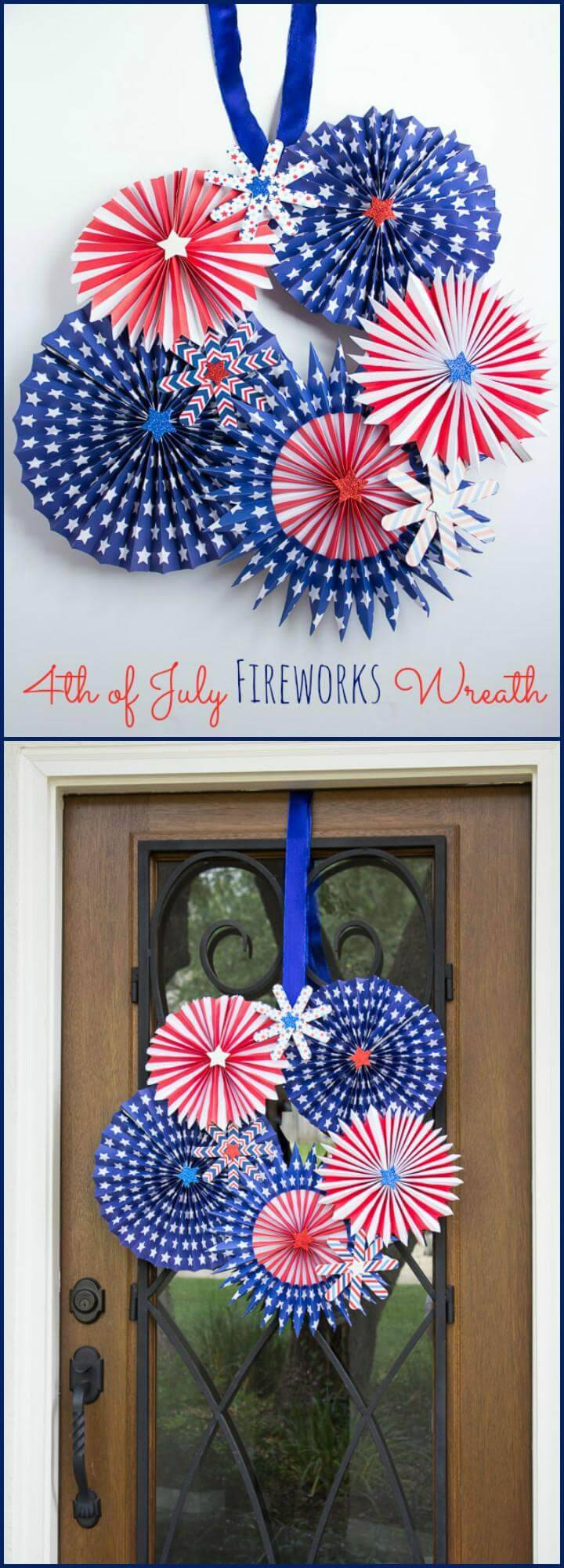 DIY $th Of July Fireworks Wreath