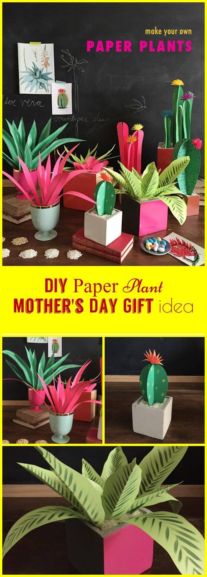 easy paper plant Mother's Day gift idea