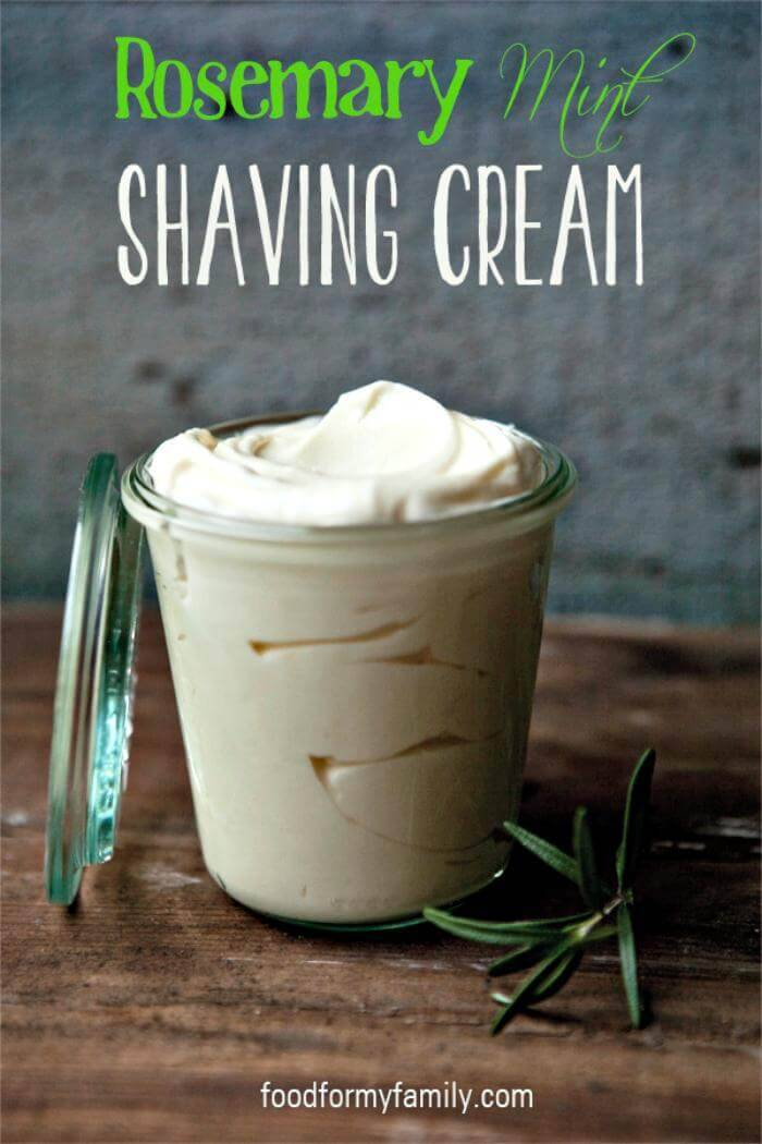 DIY Father's Day Gift - Rosemary Mint Shaving Cream - Homemade Gift Ideas