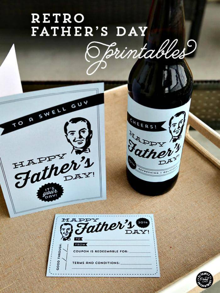 DIY Father's Day Printables – Cards, Labels and a Printable Coupon