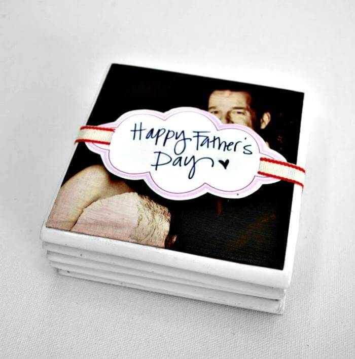 Easy Father's Day DIY Coasters