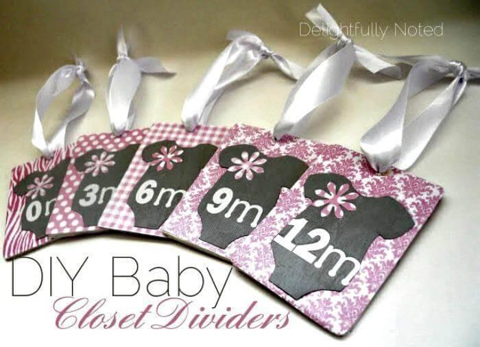 handmade baby closet divider