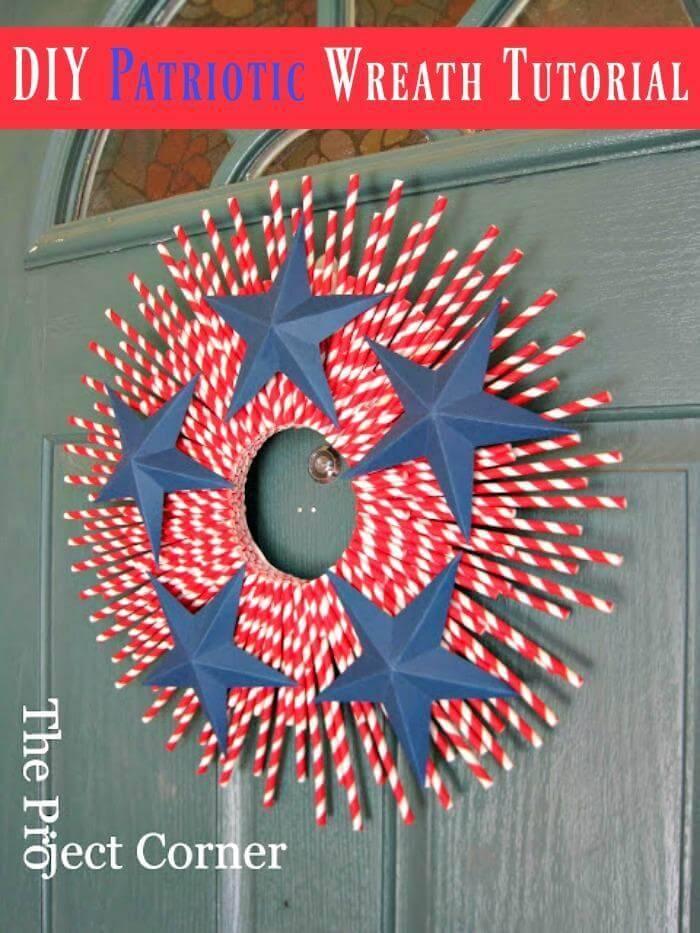 Happy Flag Day - DIY Patriotic Wreath Tutorial