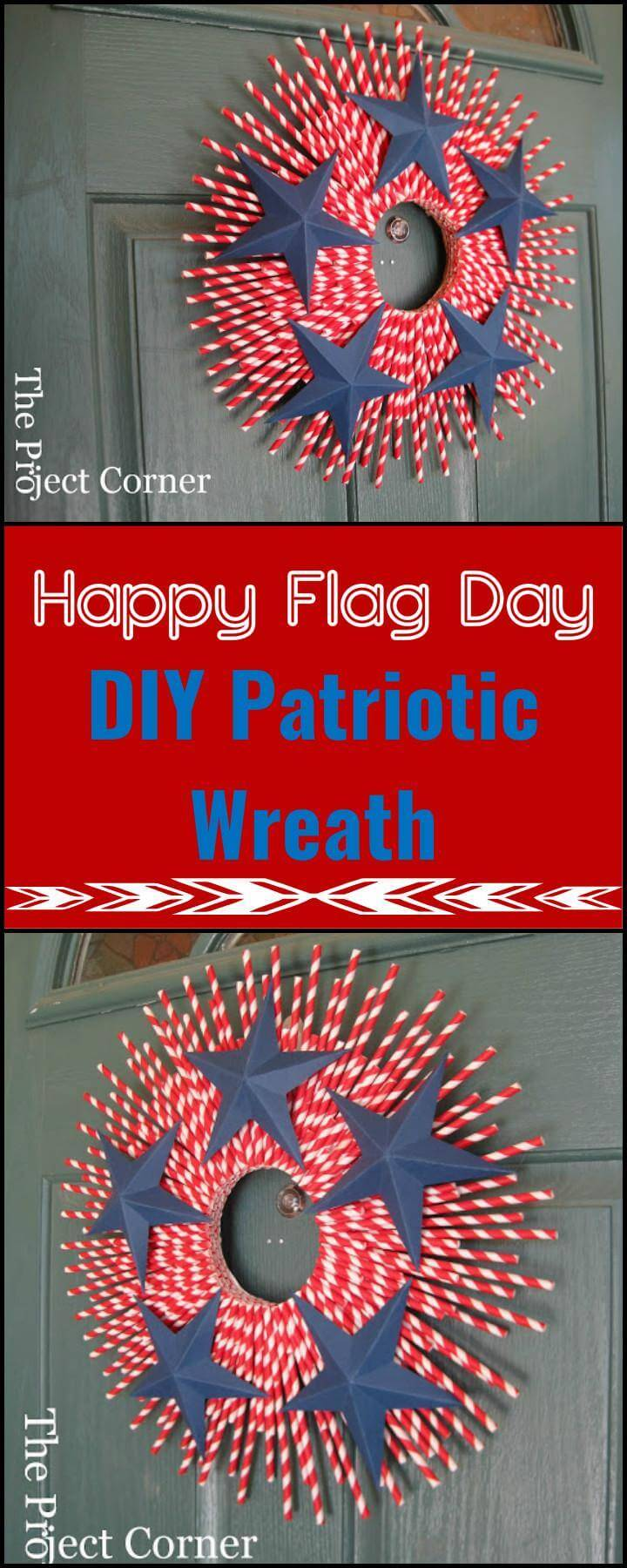 DIY Handmade Patriotic Wreath