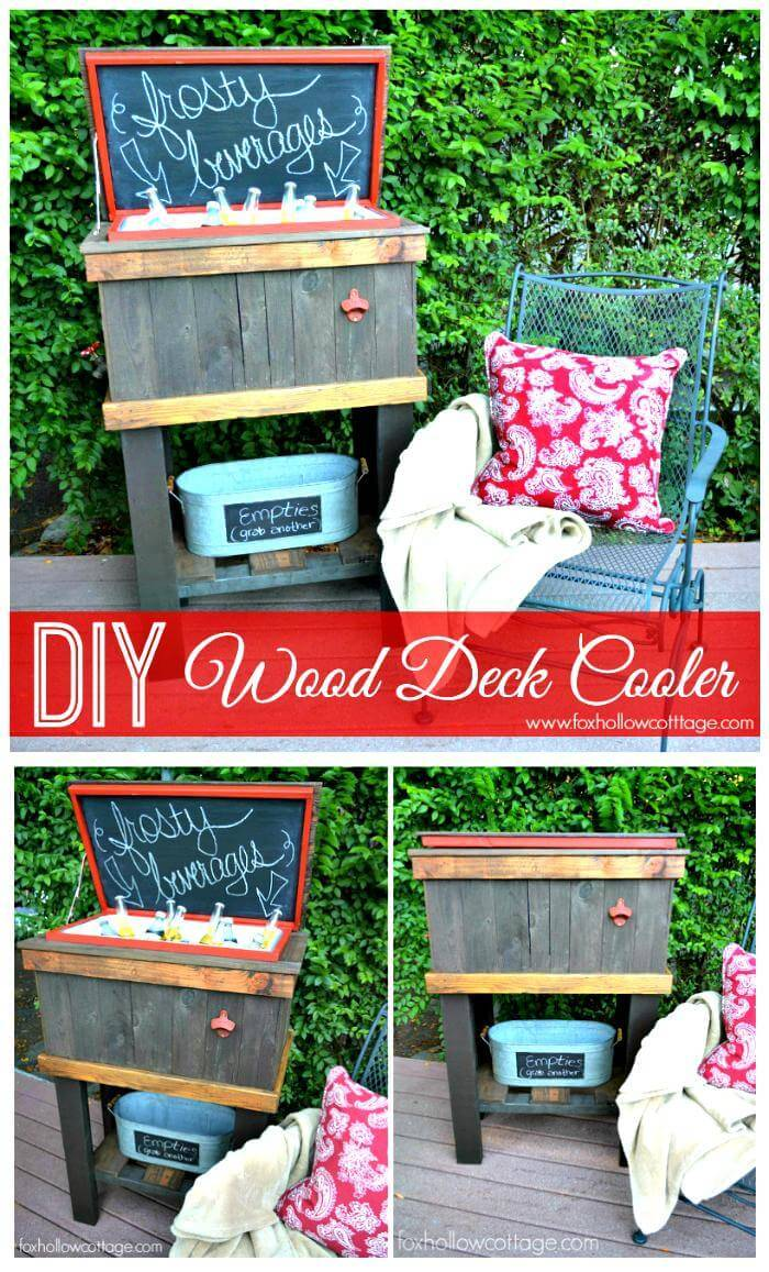 How To Build A Wood Pallet Cooler for Deck